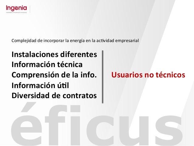 éficus Instalaciones  diferentes   Información  técnica   Comprensión  de  la  info.   Información  ú#l...