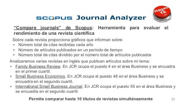 """Preselección de la revista""""Compare journals"""" de Scopus: Herramienta para evaluar el rendimiento de una revista científica ..."""