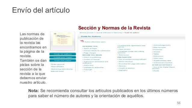❑ Elección de la sección dentro de la revista ❑ Adaptación a las normas de publicación de la revista ❑Carta de presentació...