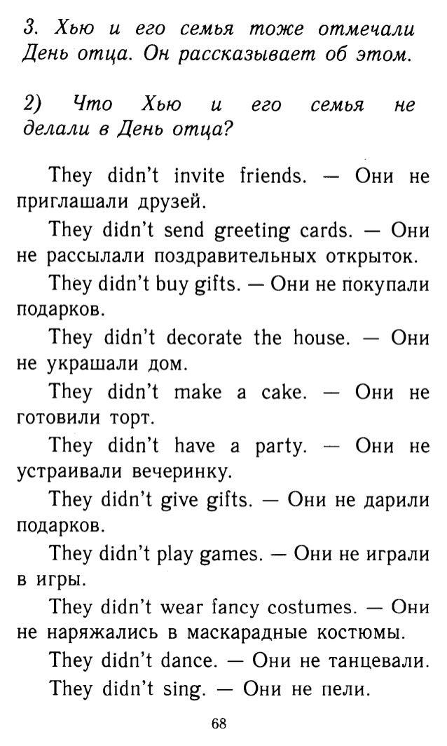 Текст о себе на английском 3 класс