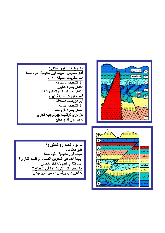 شرح واسئلة جيولوجيا 3ث