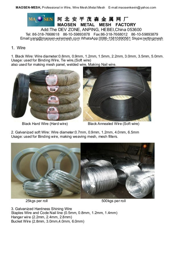 Wire, Wire Mesh and Metal Mesh Manufacturer
