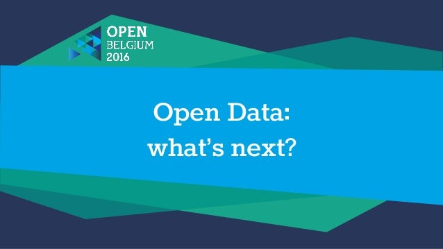 Open Data: what's next?