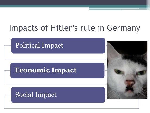 Impact of nazi rule on german