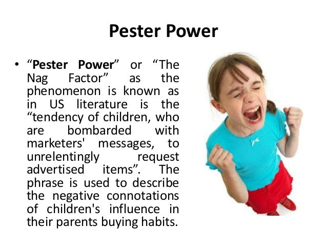 Communicating to children pester power
