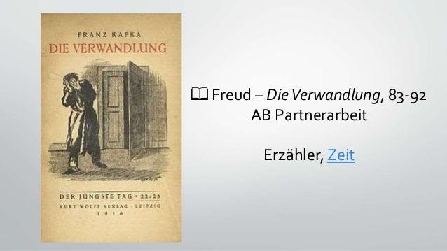 📖 Freud – DieVerwandlung, 83-92 AB Partnerarbeit Erzähler, Zeit