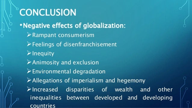 negative effects of globalization on education
