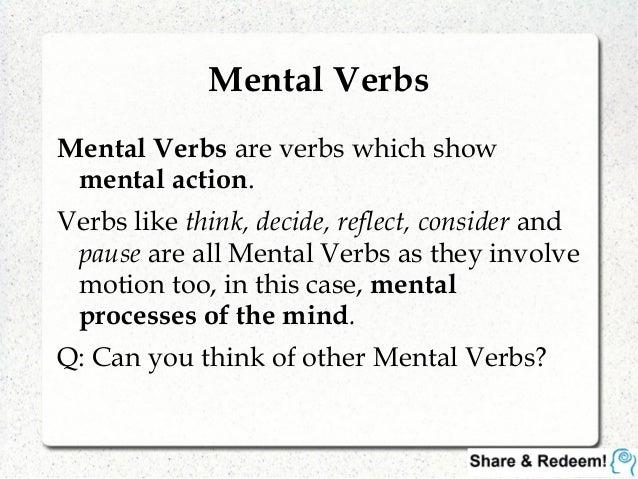 Languagelab 3.2 - Master Mental and Action Verbs