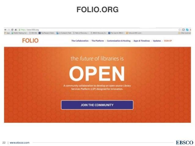 | www.ebsco.com22 FOLIO.ORG