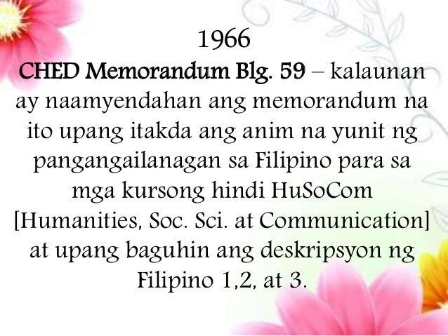 wikang pambansa Memorandum Pangkagawaran Blg 46 1996 Abril 11