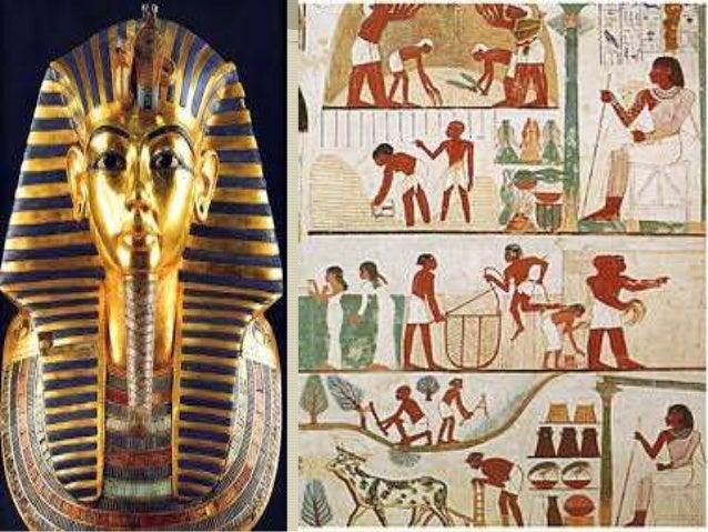 Sociedade:  Faraó;  Elite: Nobreza e sacerdotes;  Livres: Militares, escribas e artesãos;  Camponeses: Servos e escrav...