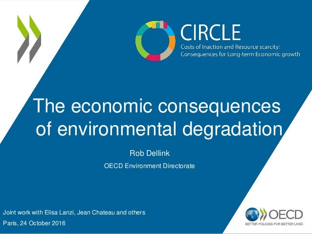 The economic consequences of environmental degradation Joint work with Elisa Lanzi, Jean Chateau and others Paris, 24 Octo...