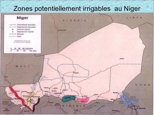 Zones potentiellement irrigables au Niger