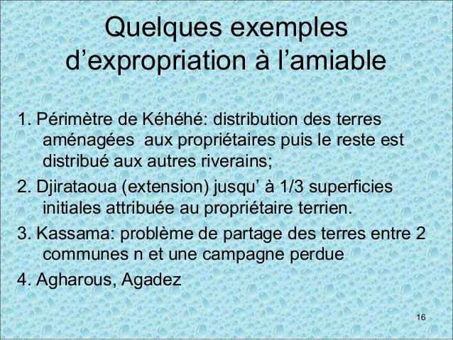 Quelques exemples d'expropriation à l'amiable 1. Périmètre de Kéhéhé: distribution des terres aménagées aux propriétaires ...