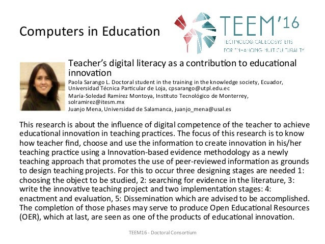 ComputersinEduca,on Teacher'sdigitalliteracyasacontribu,ontoeduca,onal innova,on PaolaSarangoL.Doctoralstu...