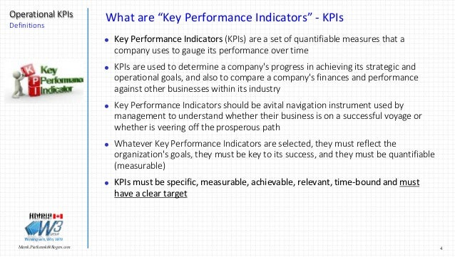 1977c05542926b Piatkowski@Rogers.com Operational KPIs Definitions Thinkingwin, Win, WIN; 4.