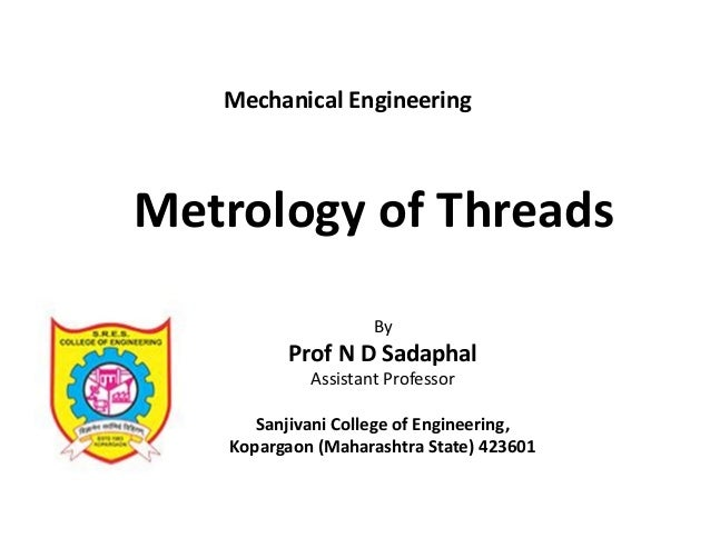 Metrology of threads