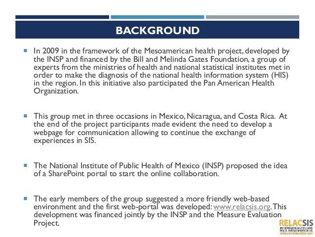 Relacsis: Red Latinoamericana y Caribeña para el Fortalecimiento de los Sistemas de Información en Salud Slide 2