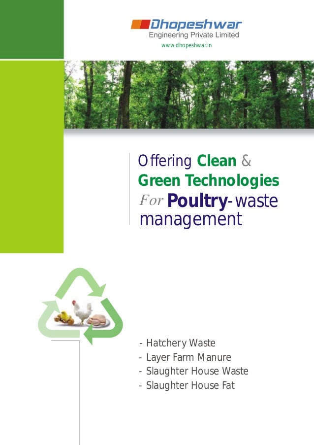 www.dhopeshwar.in Offering Clean & Green Technologies For Poultry-waste - Hatchery Waste - Layer Farm Manure - Slaughter H...