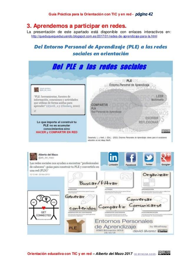 Guía Práctica para la Orientación con TIC y en red - página 42 Orientación educativa con TIC y en red – Alberto del Mazo 2...