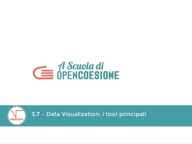 3.7 – Data Visualization: i tool principali