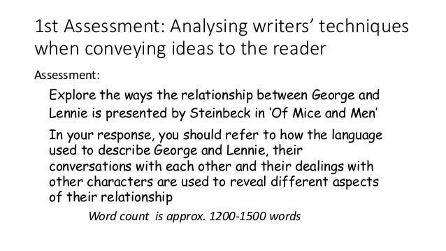 planning omam essay 1st assessment analysing writers techniques when conveying ideas to the reader assessment word