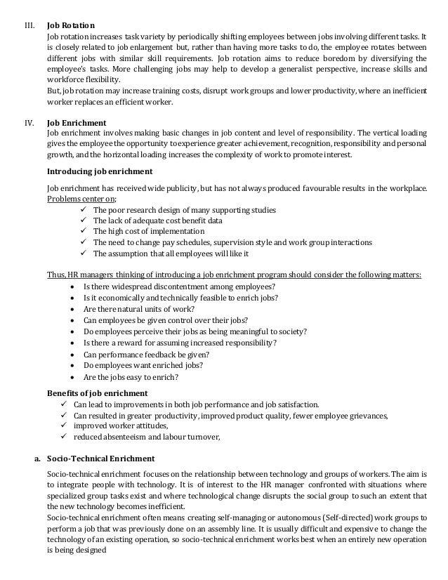 higher performance      OPTIONS FOR JOB DESIGN
