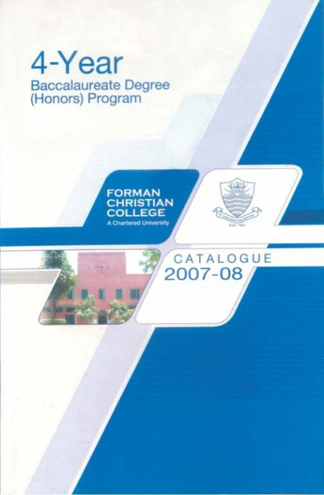 Baccalaureate Catalogue 2007-2008