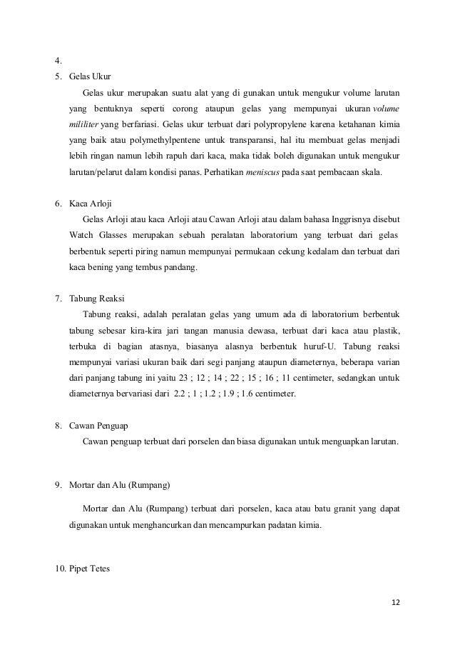 laporan kimia alat laboratorium