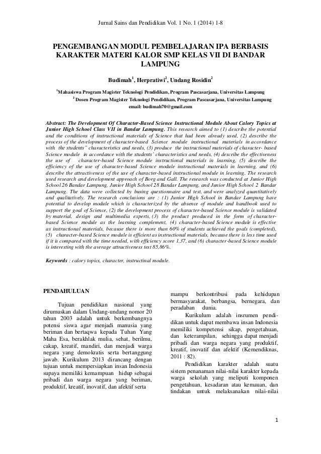 jurnal tesis pendidikan ipa