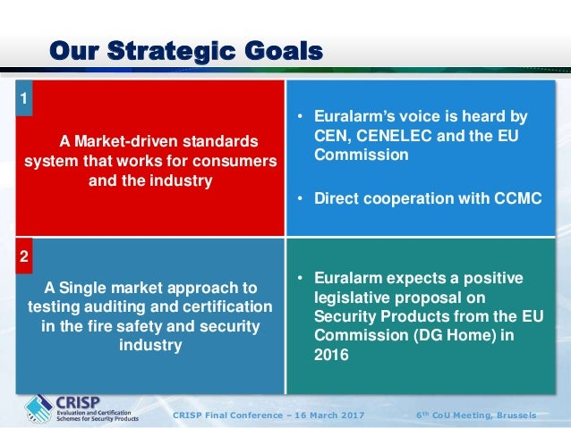 Euralarm - Glen Dale on security industry perspective on certificatio…