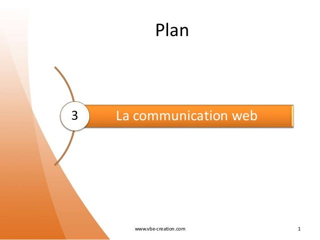 Plan La communication web www.vbe-creation.com 1 3