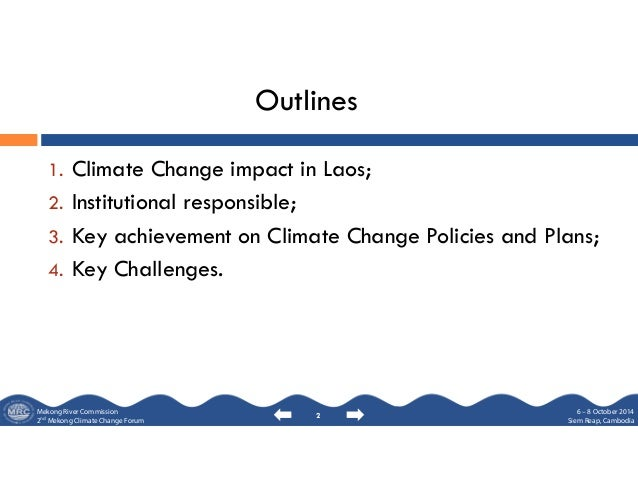 Status climate change strategy and implementation, lao pdr Slide 2