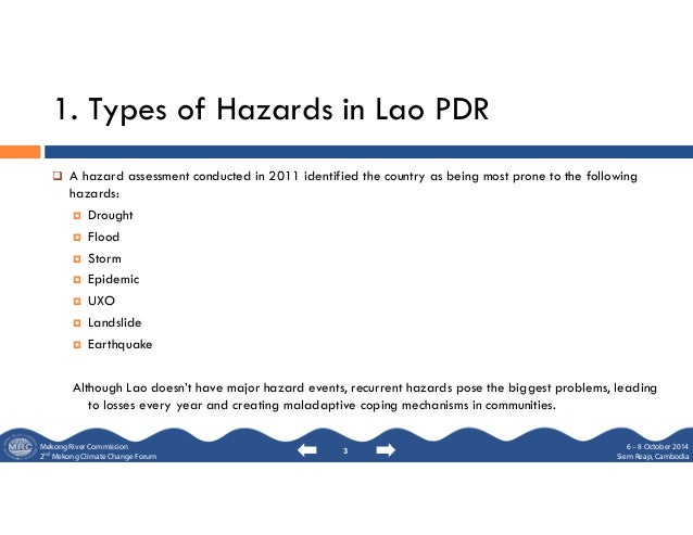 Status climate change strategy and implementation, lao pdr Slide 3