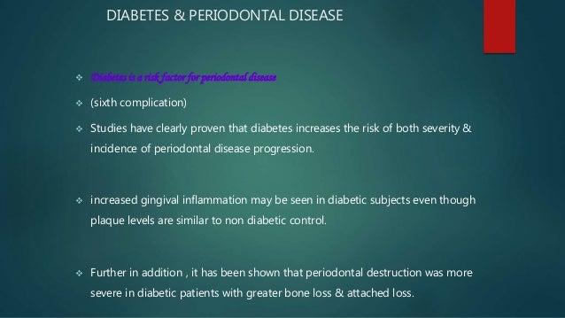 periodontal disease and diabetes mellitus