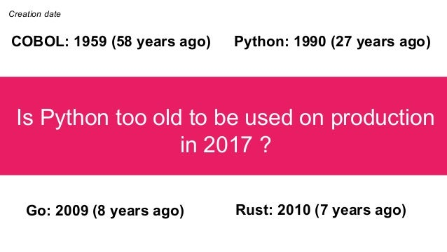 Is Python still production ready ? Ludovic Gasc Slide 3