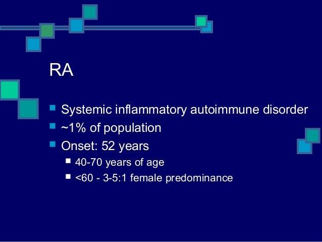 an analysis of the systemic inflammatory autoimmune condition rheumatoid arthitis The fdm approach to auto-immune conditions role in autoimmune diseases chronic systemic inflammation is are diseases such as rheumatoid arthritis.