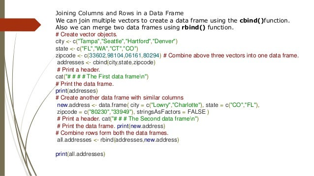3. R- list and data frame