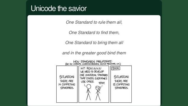 Unicodeisacomputingindustrystandardfortheconsistent encoding,representation,andhandlingoftextexpressedin mo...