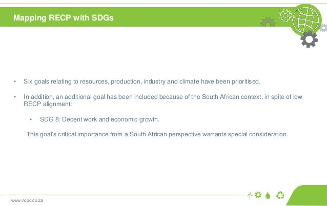 www.ncpc.co.za • Six goals relating to resources, production, industry and climate have been prioritised. • In addition, a...