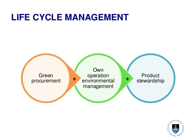 LIFE CYCLE MANAGEMENT Product stewardship Own operation environmental management Green procurement ++