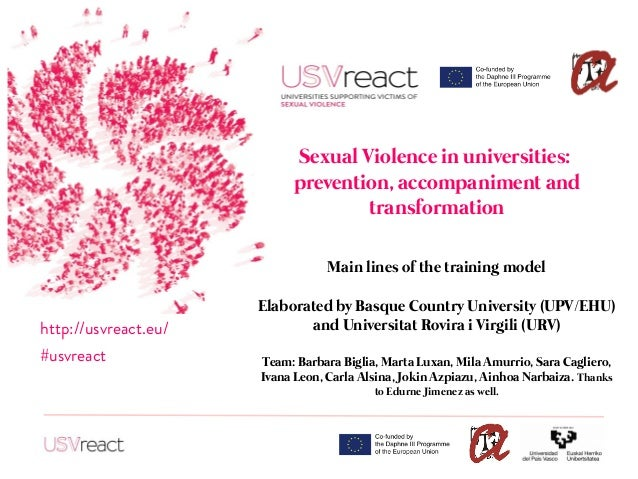 Sexual Violence in universities: prevention, accompaniment and transformation Main lines of the training model Elaborated ...