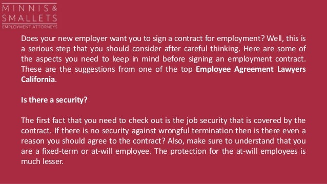 Careful Signing Employment Contract | 5 Pointers To Focus On Before Signing Your Employee Agreement Contract