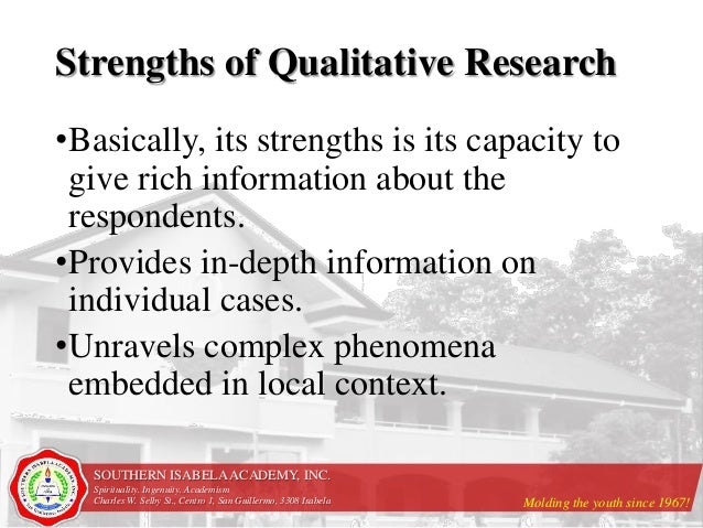 32 Strengths And Weaknesses Of Qualitative Research