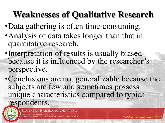 what are the strengths and weaknesses of quantitative
