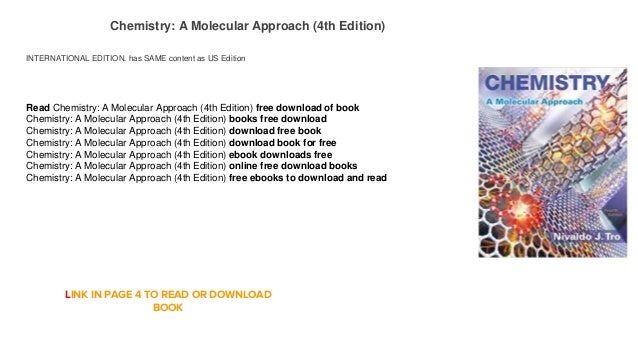 4th Edition Chemistry A Molecular Approach