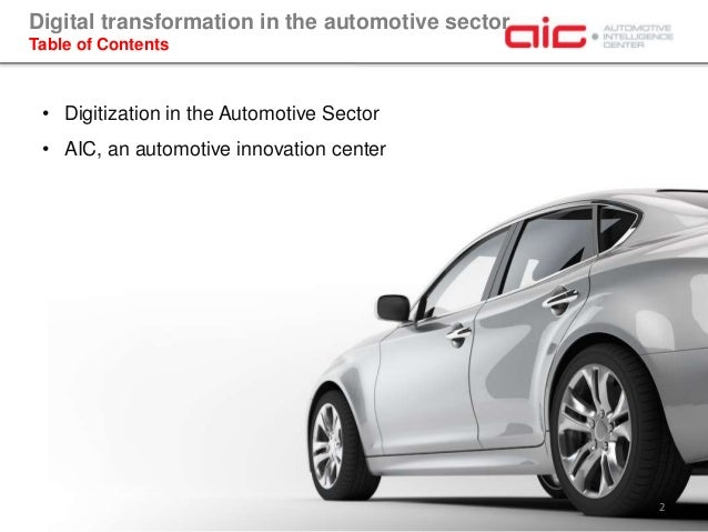 Digital Transformation in the Automotive Sector Slide 2