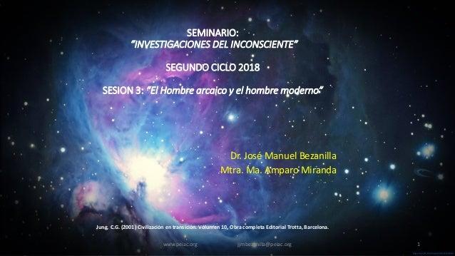 """Sage-Fox.com Free PowerPoint Templates SEMINARIO: """"INVESTIGACIONES DEL INCONSCIENTE"""" SEGUNDO CICLO 2018 SESION 3: """"El Homb..."""