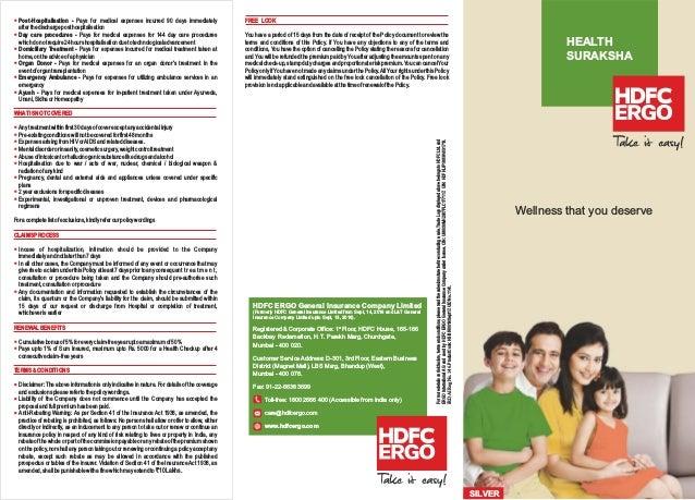 Hdfc Ergo Health Insurance Premium Receipt - Insurance