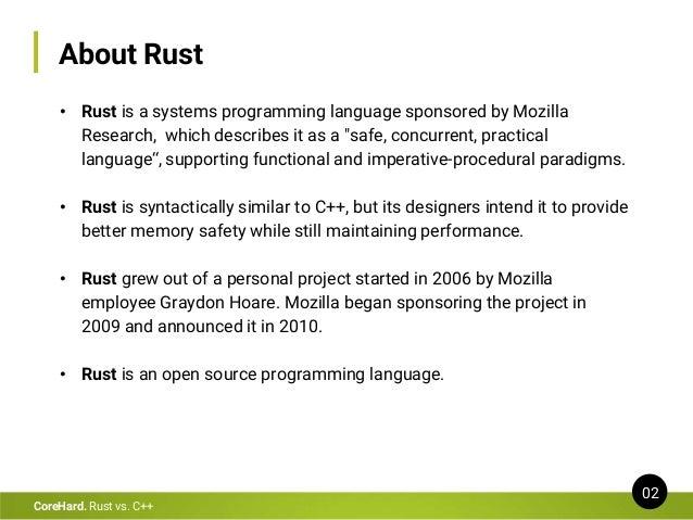 Rust vs C++ Slide 2